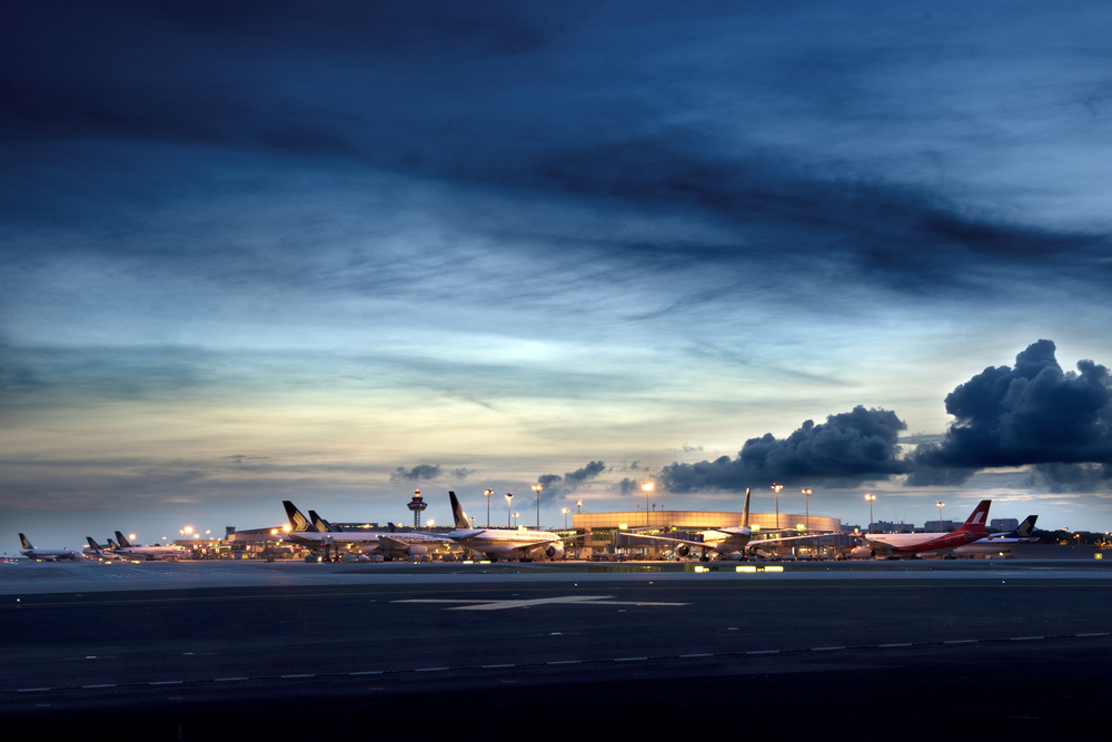 Changi International Airport Terminal 3 at Dawn