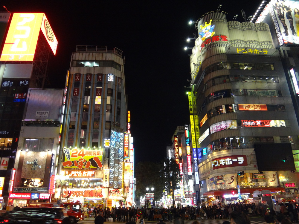 In the bustle of Shinjuku at 10pm