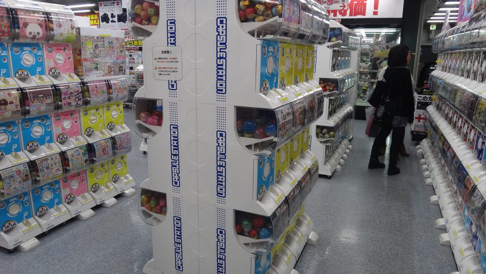 Gashapon as far as the eye can see