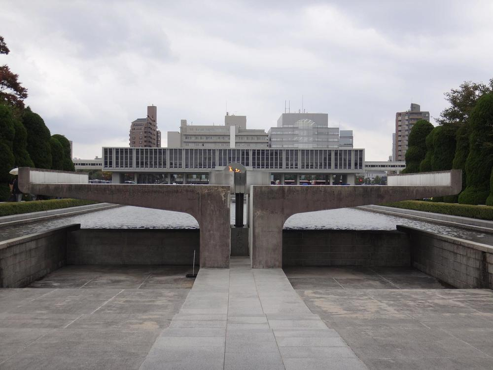 Peace memorial and reflecting pool