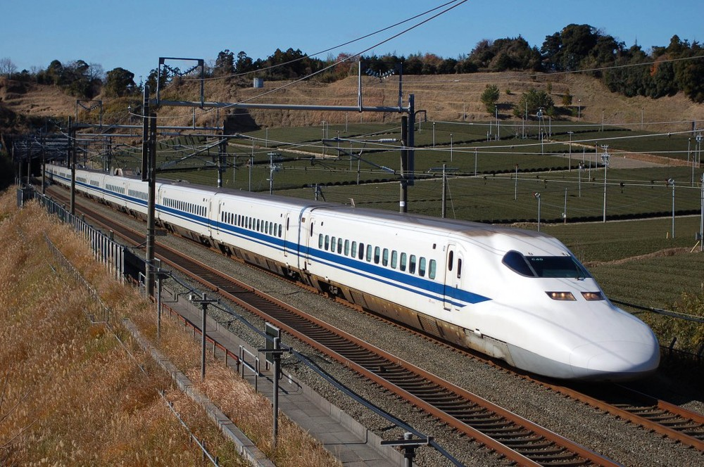 A Shinkansen on it's way to Kyoto