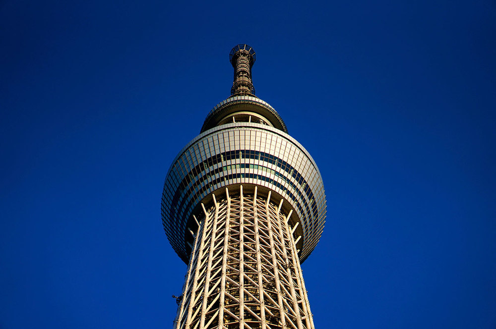 The Tokyo SkyTree taken from ground level