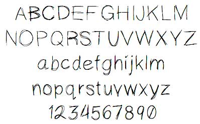 Jessies Scribbles Font