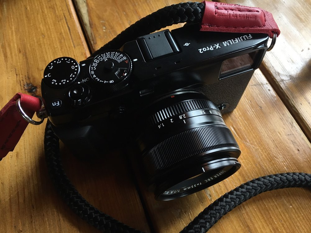 Valerie's Sailor Strap on the X-Pro2