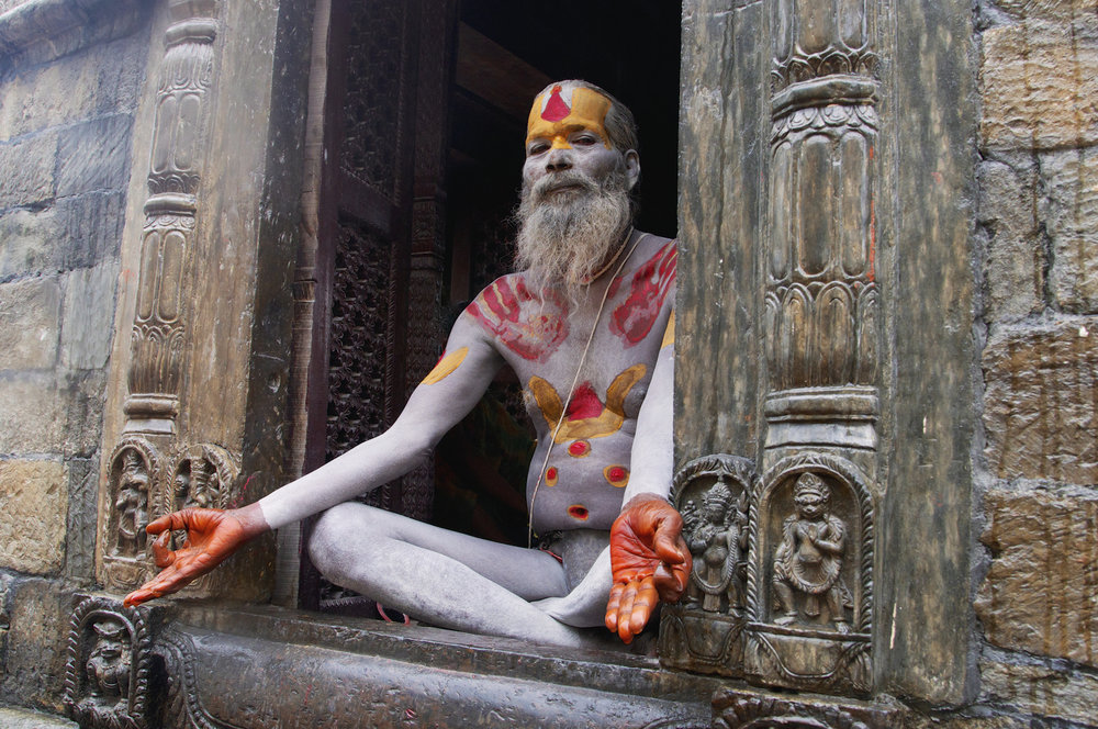 Sadhu in Pose - Pashupatinath, Nepal - Copyright 2014 Ralph Velasco.jpg
