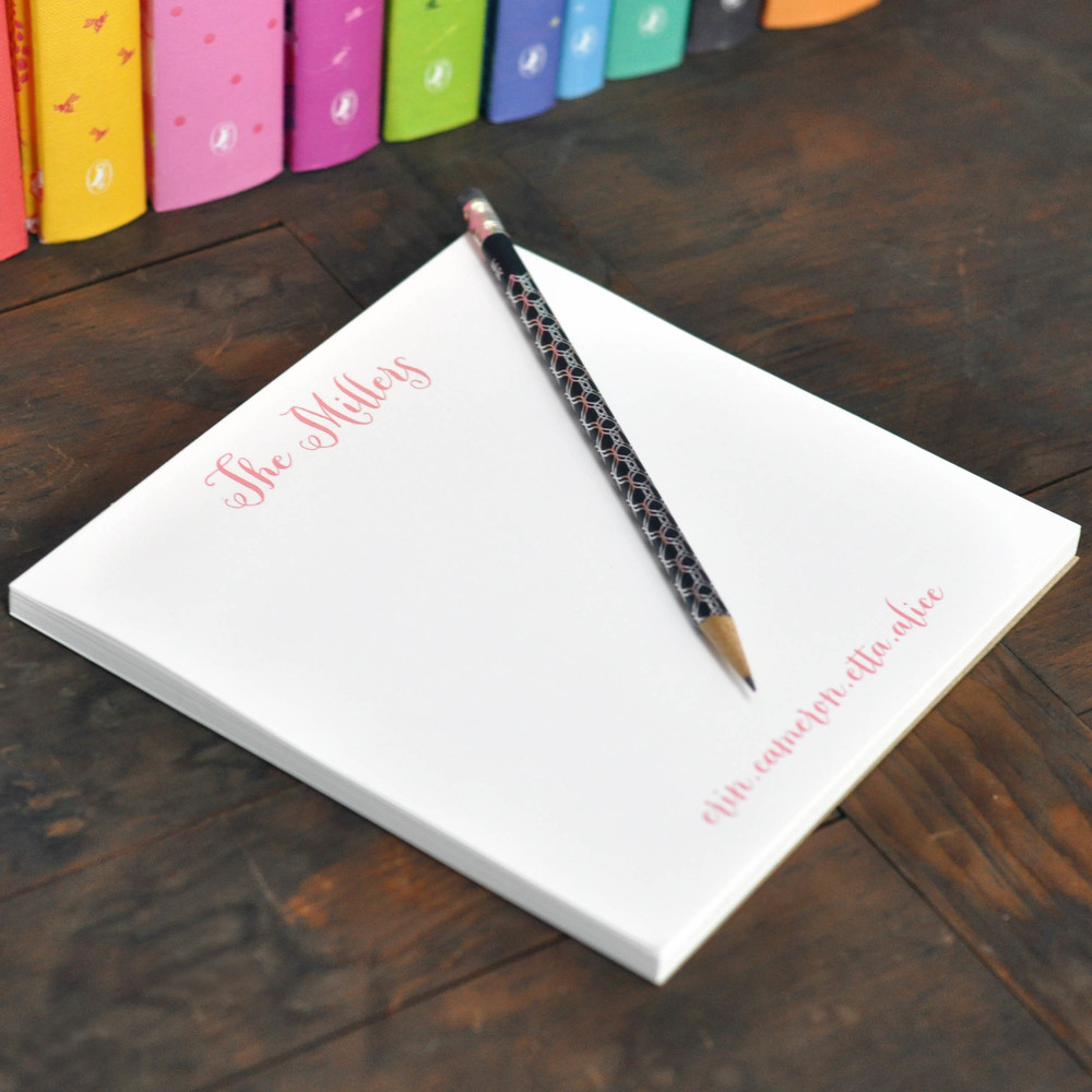 Executive College Stationery Note Cards: Square Notepad