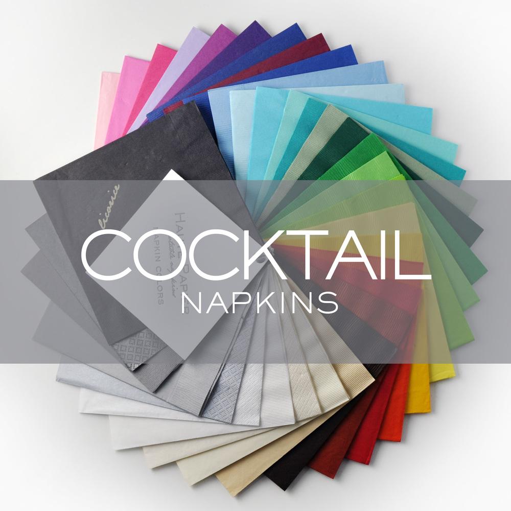 Personalized Cocktail Napkins Haute Papier