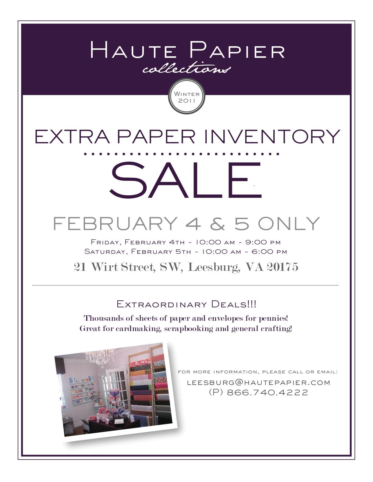 Haute Papier Extra Inventory Sale