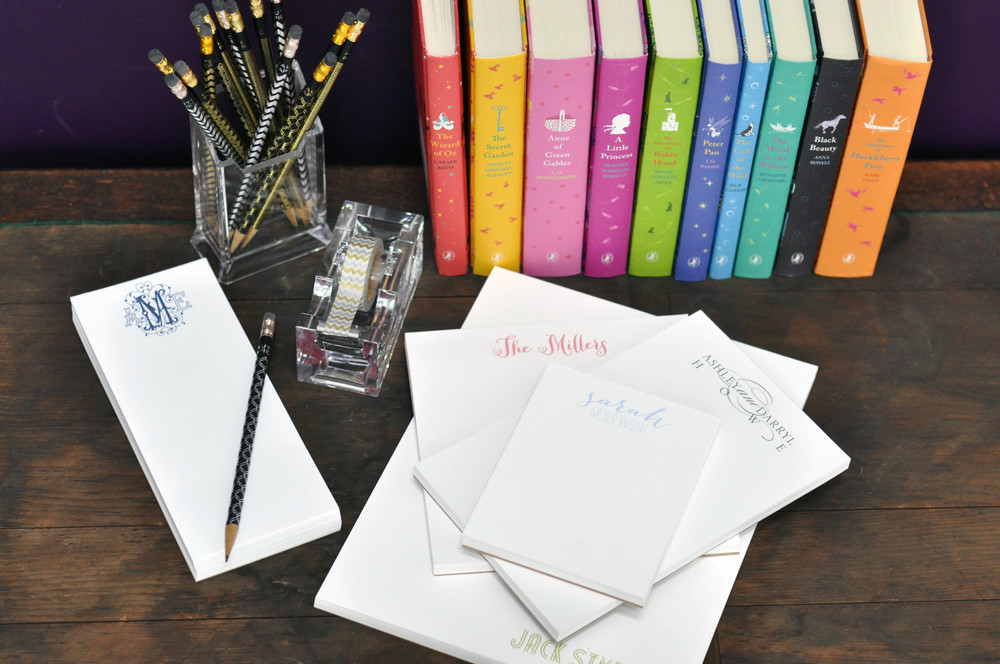 nv personalized notepads haute papier