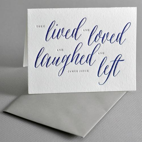 james joyce sympathy card haute papier