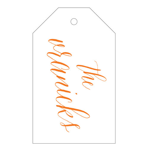 letterpress gift tag t150