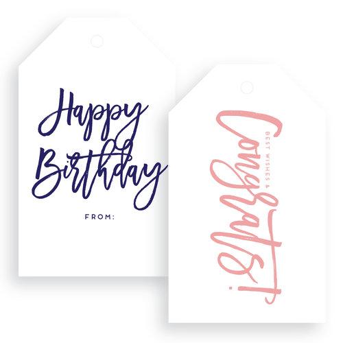 sn congrats happy birthday gift tags haute papier