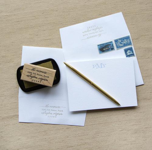 personal stationery design 7 haute papier