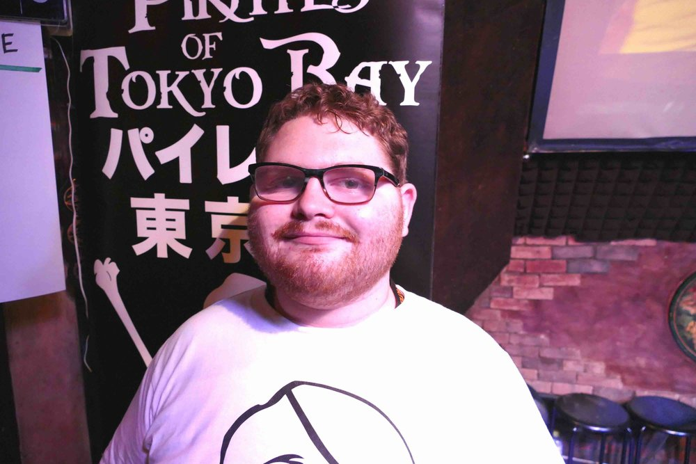 Hi! I'm Jacob Machlis, - one of the Pirates of Tokyo Bay's newest interns!