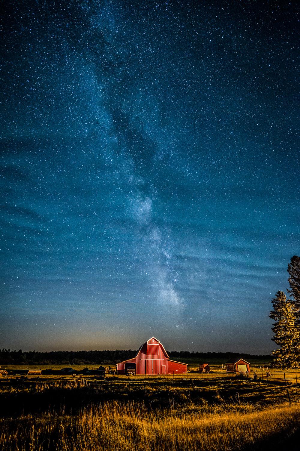 """""""Barn Under Milky Way"""" by Dennis Zerwas, Jr."""
