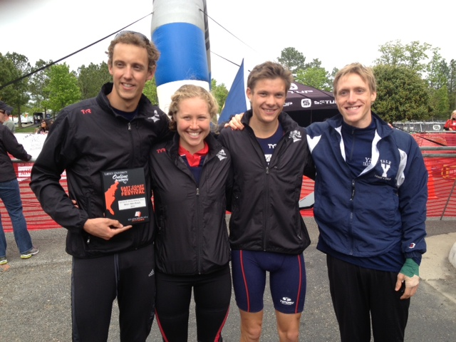 Post-race with Collegiate Recruit all-starts John, Chelsea, and Alex.