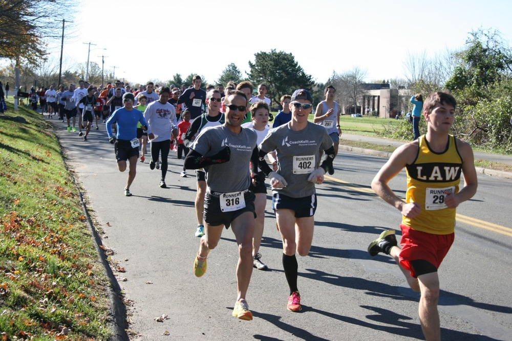 Dave Ellis and me racing a 5k in 2012.