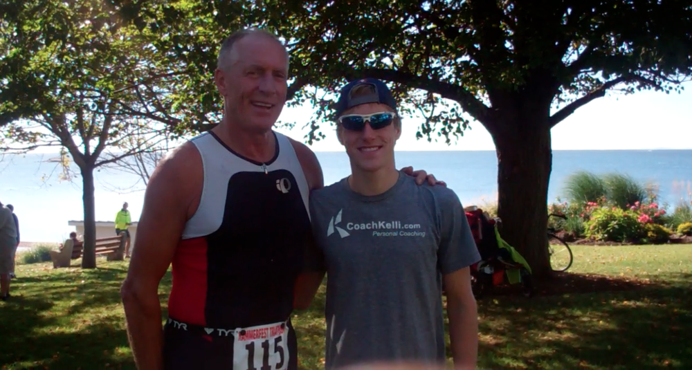 My dad and I raced together in a triathlon for the first time!