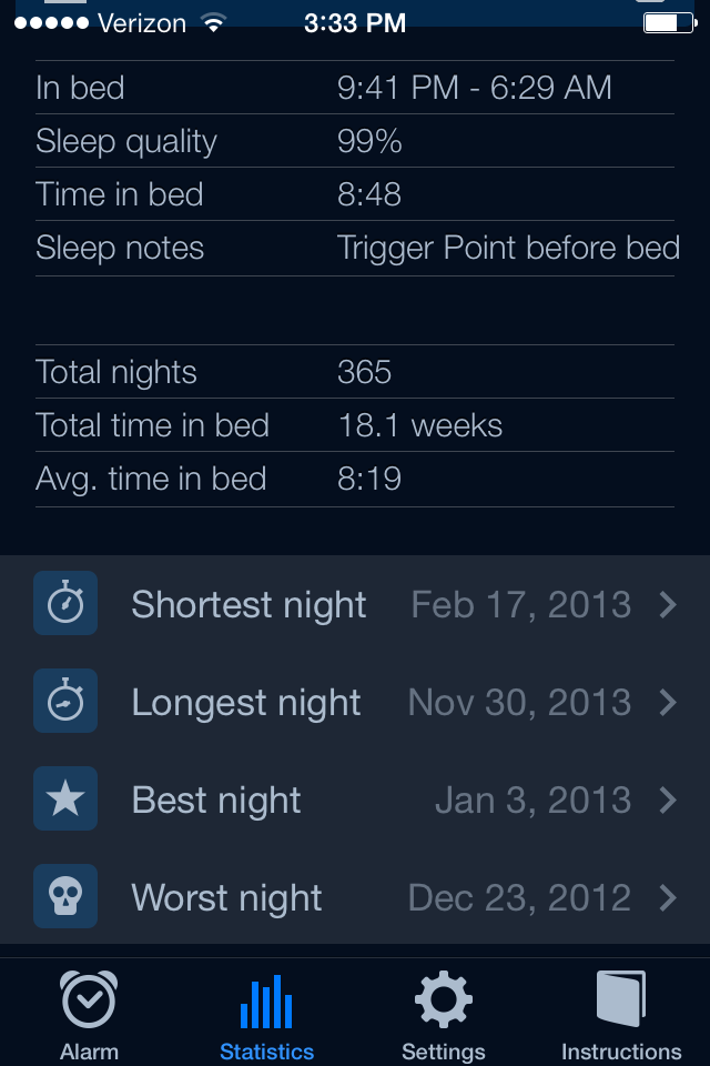 Aggregate Sleep Data