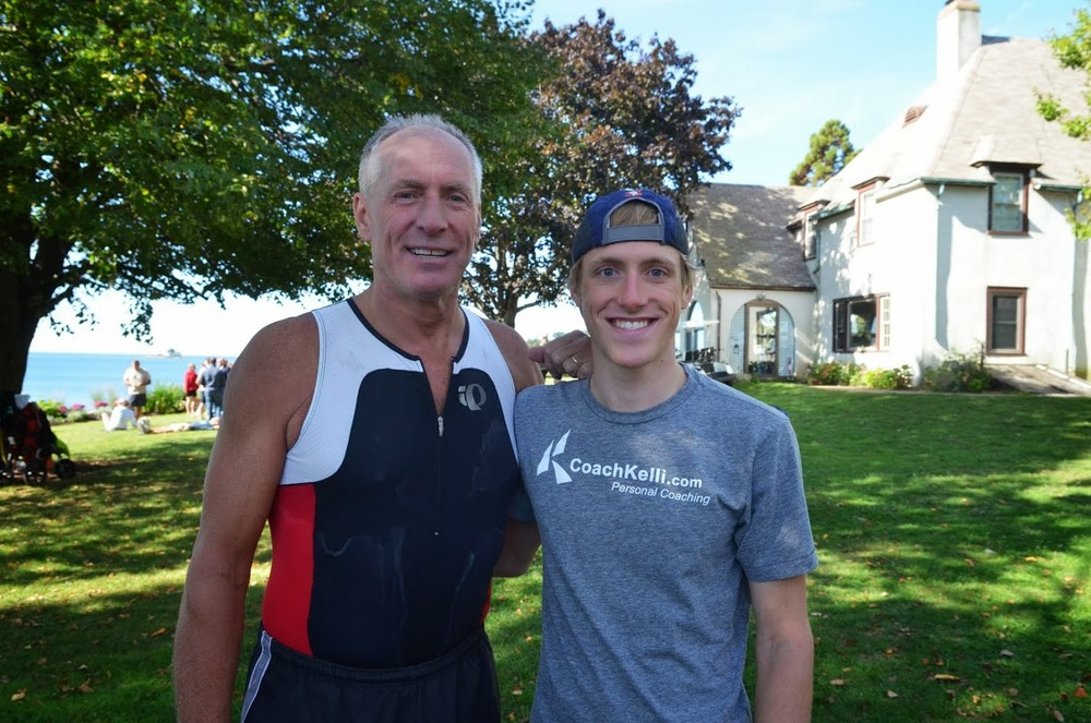 My dad and I after racing together in 2013.
