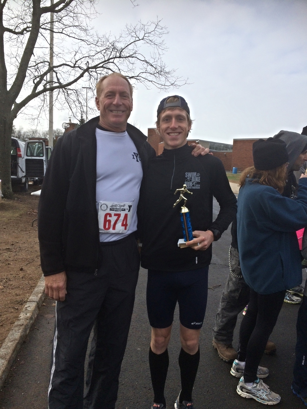 My dad and I after the Turkey Trot on Thanksgiving morning!