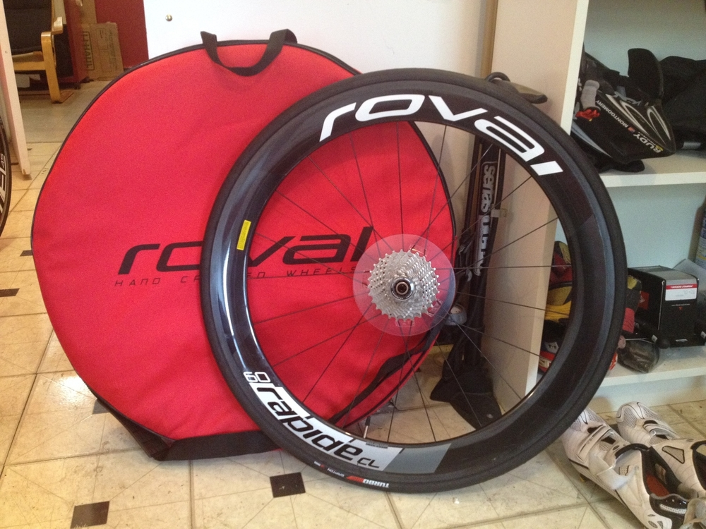 Perhaps the best deal about the bike is that it comes with full carbon clincher race wheels. These are seriously fast.
