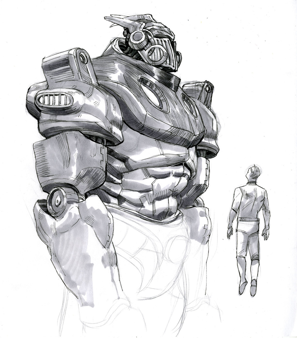 Character Study Of A Giant Robot For Jason Parker S The Mission