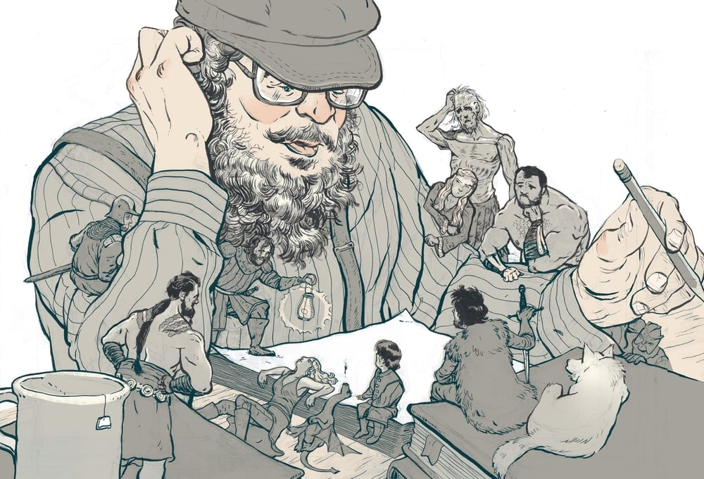 I recently read George R.R. Martin missed his deadline for the next Game Of Thrones novel. He has a deadline? Here is a quick illustration thinking about the creative pressures.