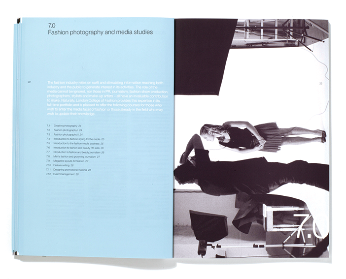 London College of Fashion  Spread from short courses brochure