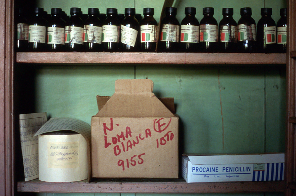 Pharmacy in village of Loma Blanca  Reconnaissance trip with aid agency