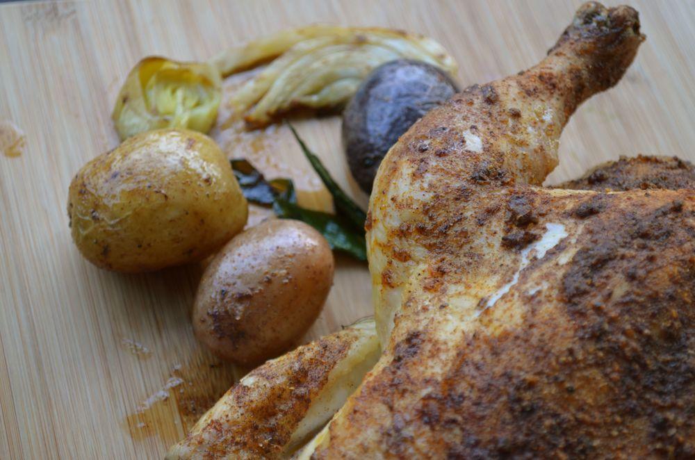 Roasted Cinnamon Chicken with Fennel & Potatoes — {Ms. Buena Vida}
