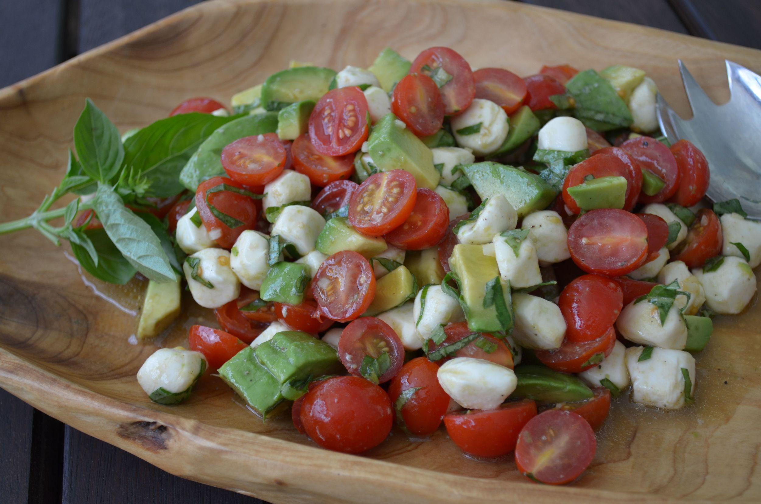 White Balsamic Avo-Caprese Salad — {Ms. Buena Vida}