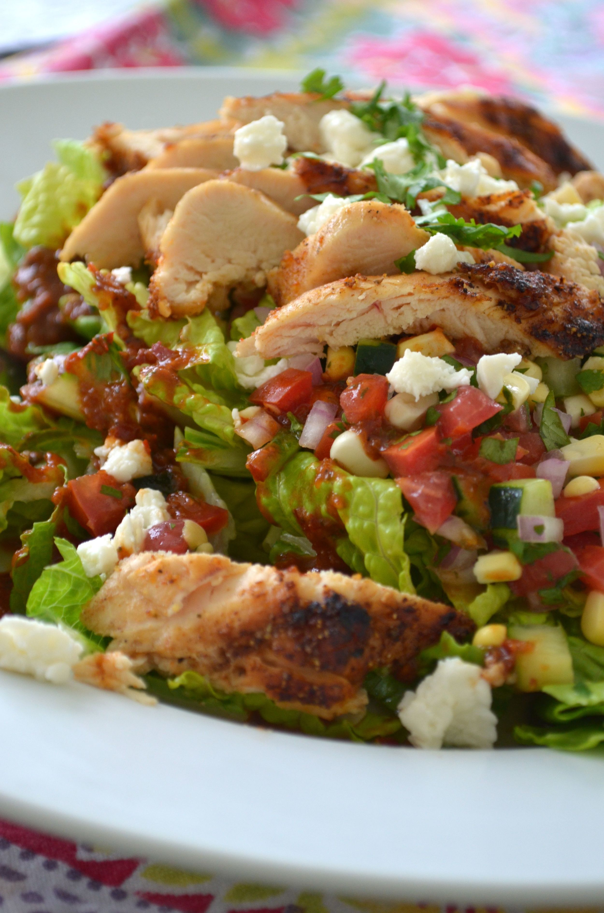 Grilled Chicken Salad with Smoky Guajillo Vinaigrette ...
