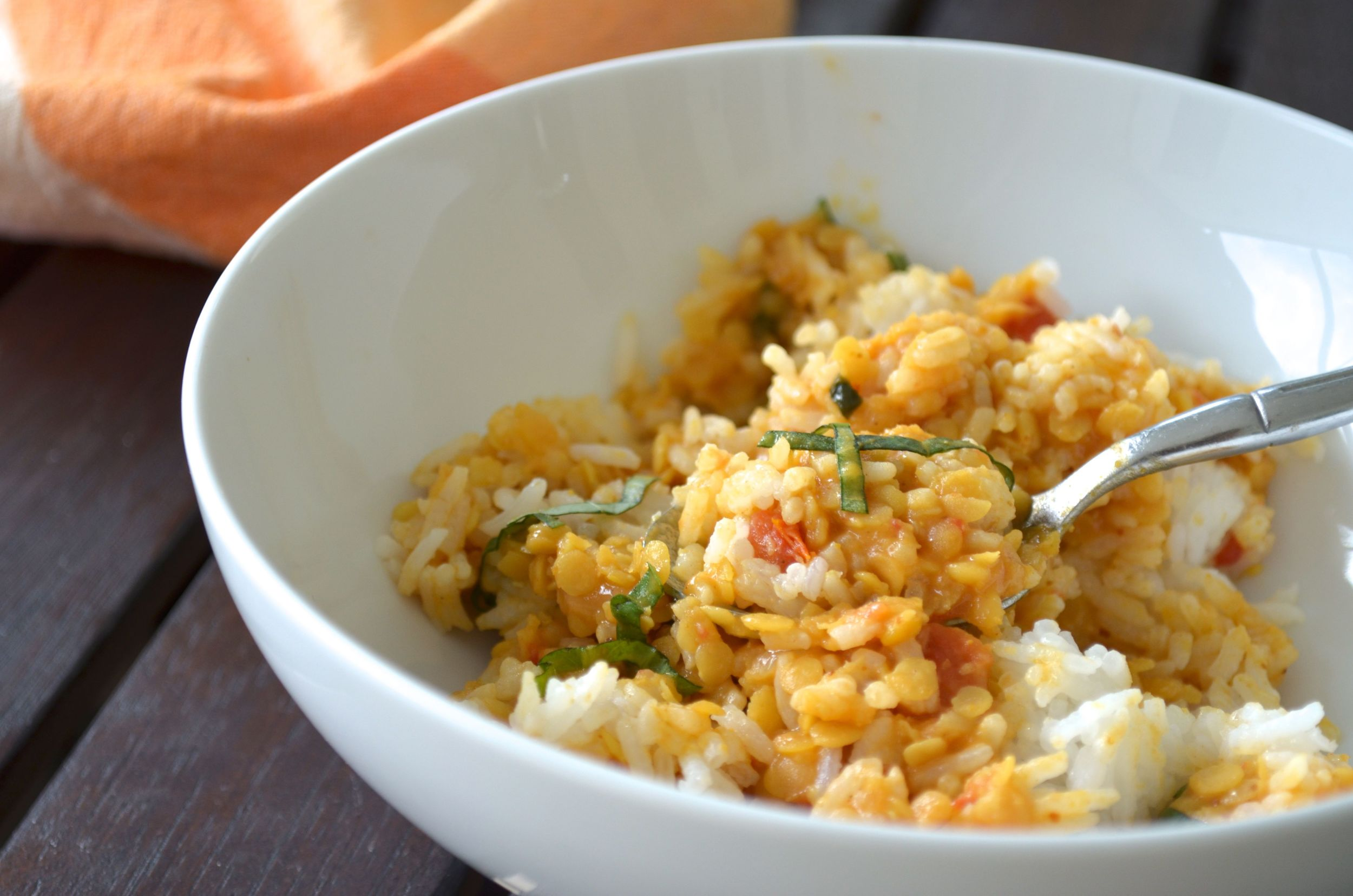 Coconut red lentils