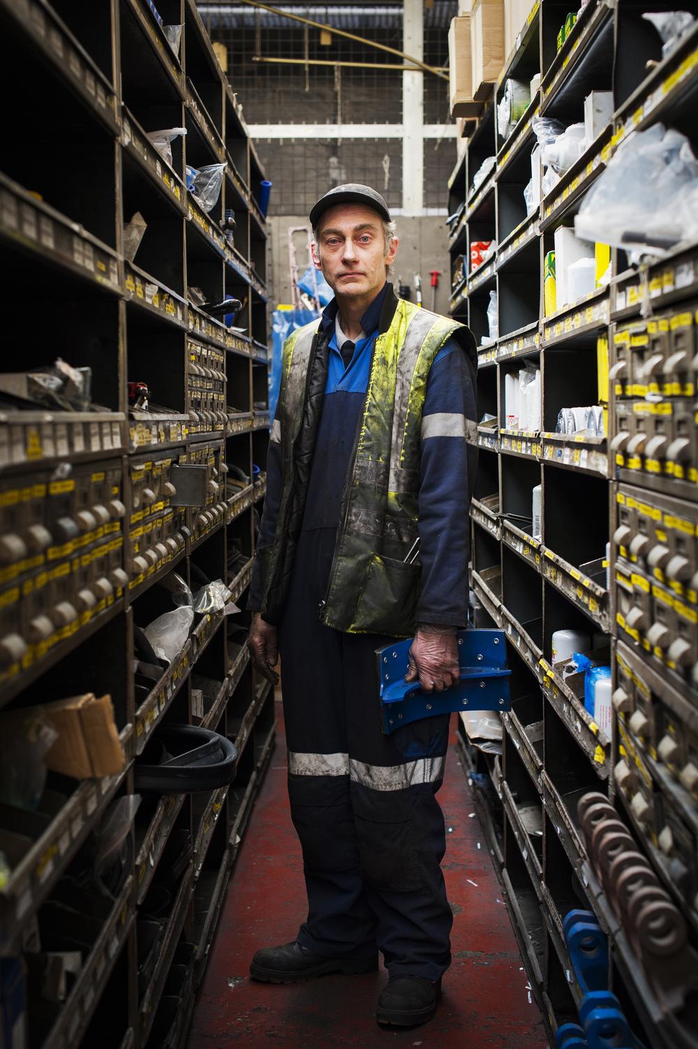Portraitof a Mechanicat work.