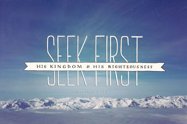 seek his kingdom