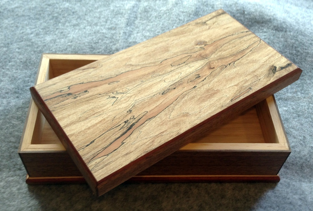 Spalted Mapled top and Black Walnut base