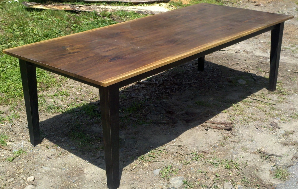 Eastern Black Walnut and ebonized Black Oak base