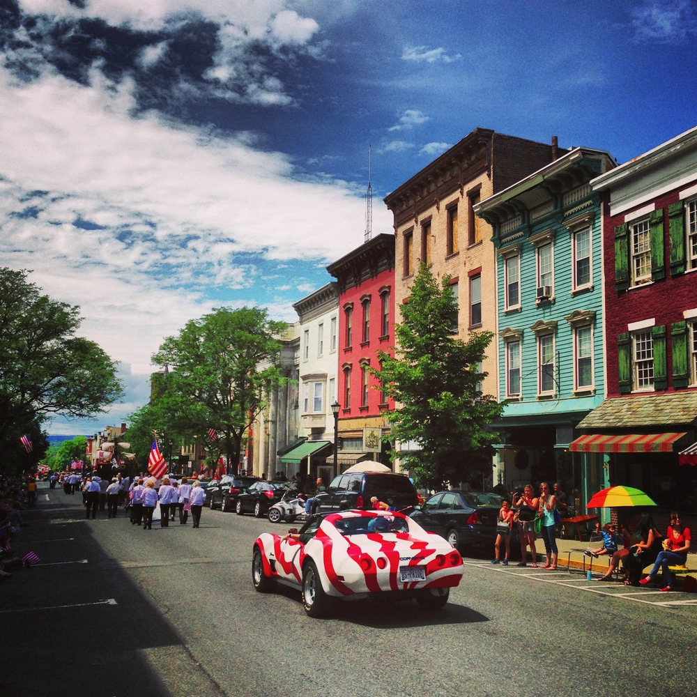 Louisa Corbett_Hudson New York_Flag Day American flag sportscar.JPG