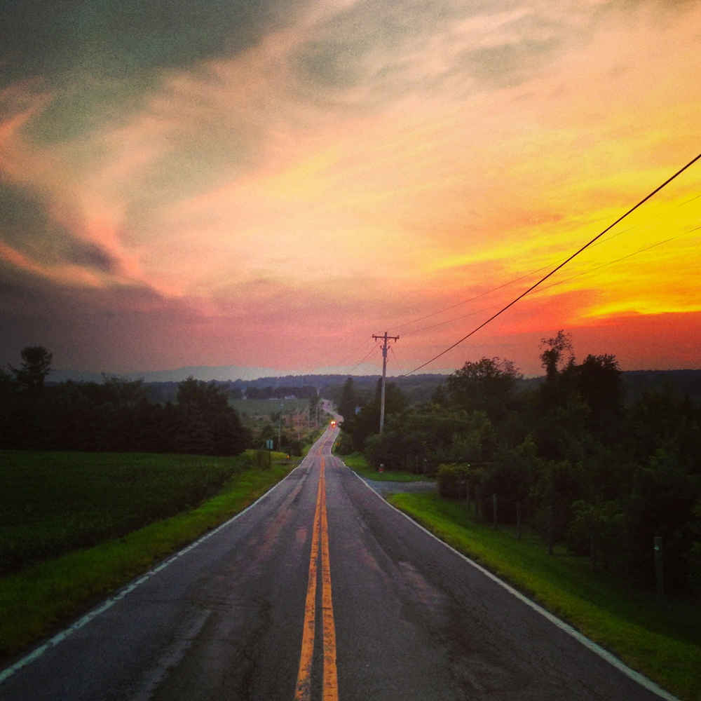 Louisa Corbett_Hudson NY_Sunset over Fish & Gane Road.JPG