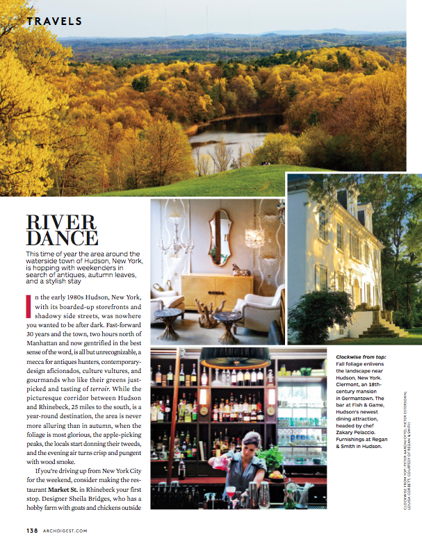 River Dance: Architectural Digest, November 2013