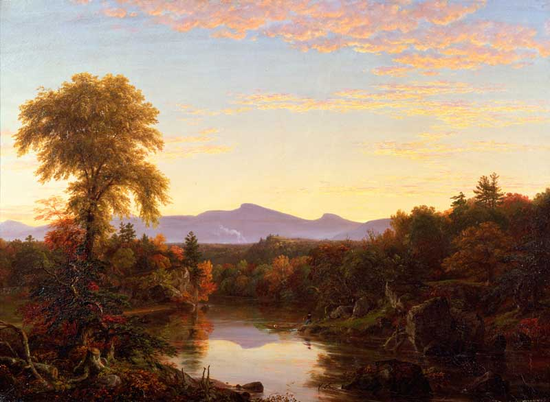 The Catskills and Lake George, Catskill Creek, NY   (1845), Thomas Cole.   New-York Historical Society