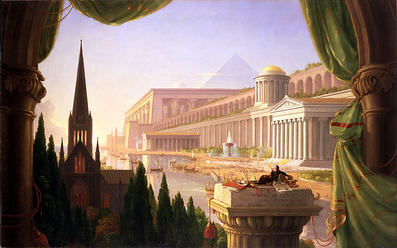 Thomas Cole, The Architect's Dream, 1840, 53 x 84 in. Toledo Museum of Art