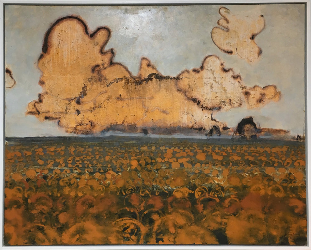 David Konigsberg ,  Pumpkin Field , oil on canvas
