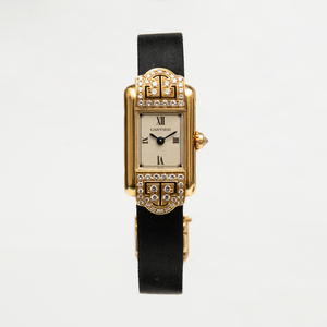 Cartier 18k Gold and Diamond MiniTank Wristwatch