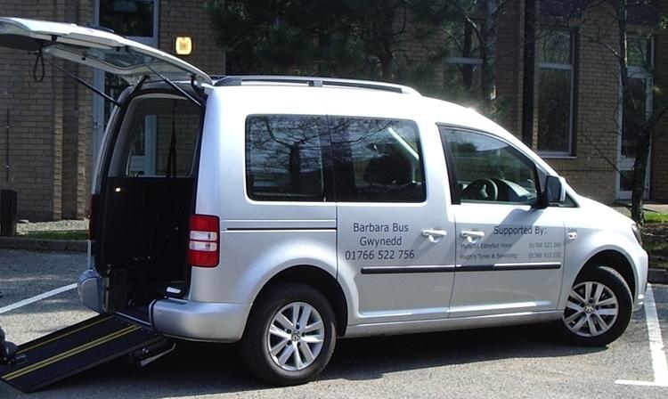 Volkswagen Caddy. Criccieth and Dolgellau