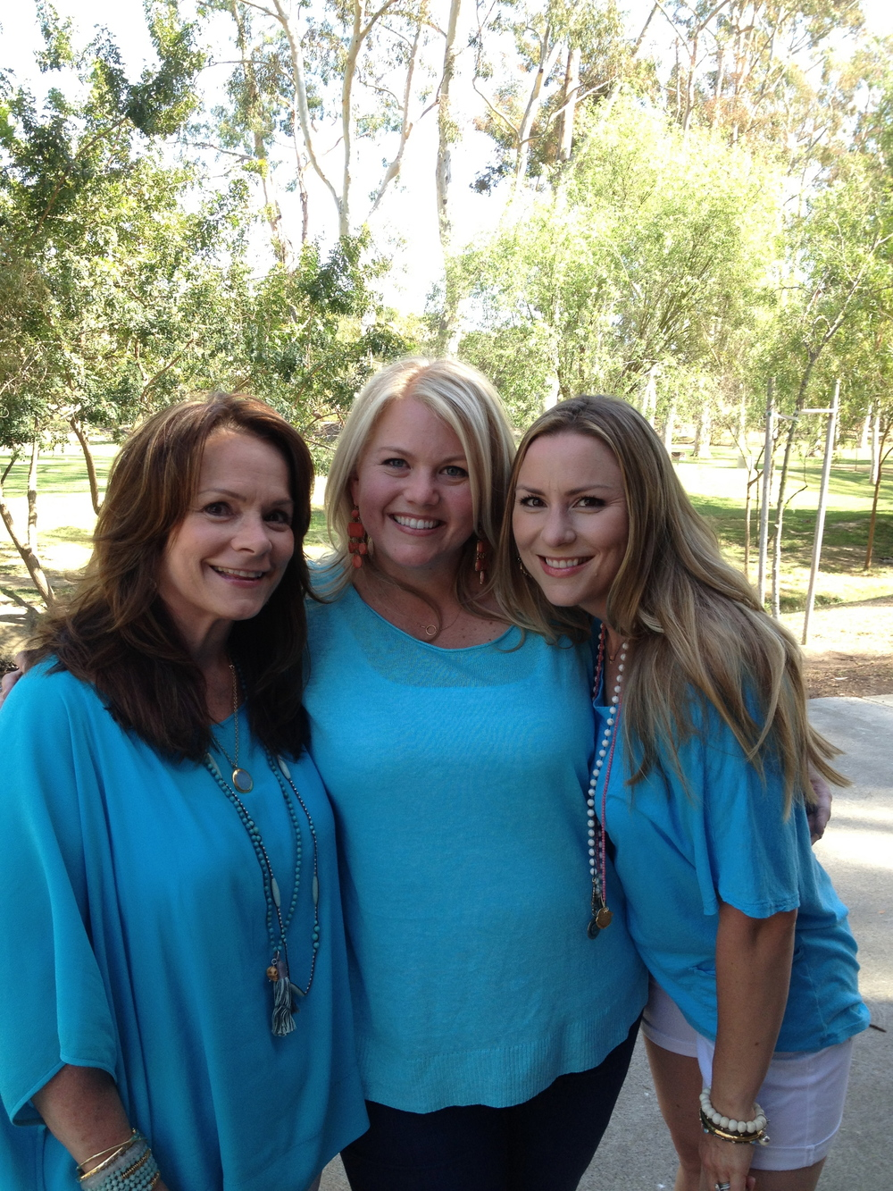 We DID get the memo....wear blue.....my beautiful daughters & me.