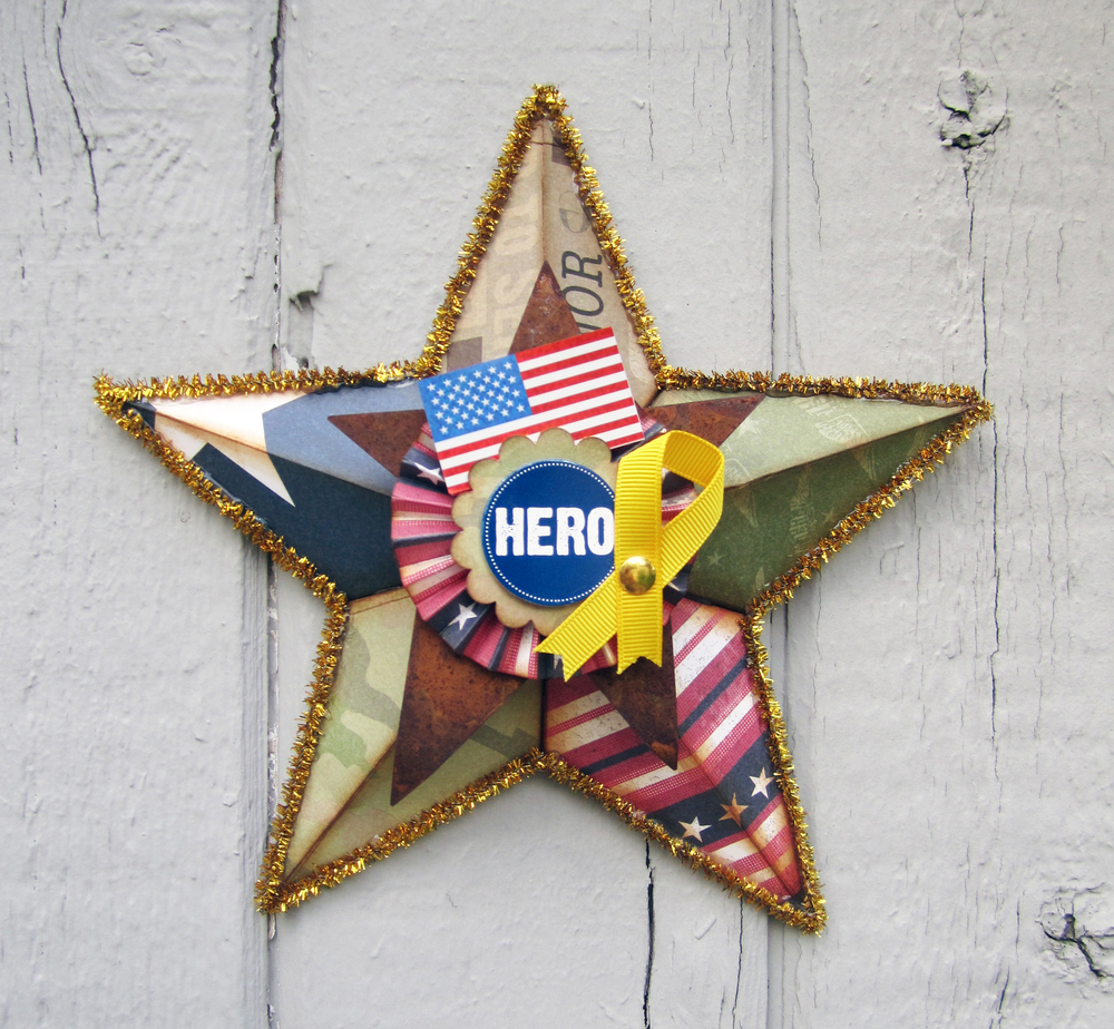 diy military star mambiKIT scrapbooking page kit