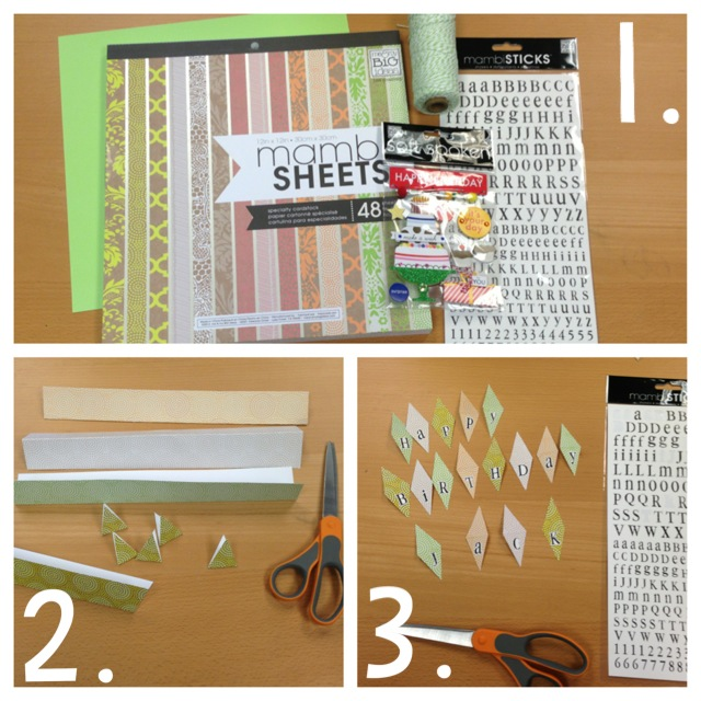 Banner Gift How to Tutorial mambi me & my BIG ideas blog happy birthday card scrapboking how to