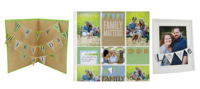 step by step banner tutorial card scrapbook page frame banner mambi me & my BIG ideas POCKET PAGES scrapbooking